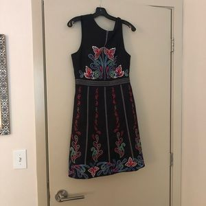 Anthropologie Embroidered Dress - Size 6